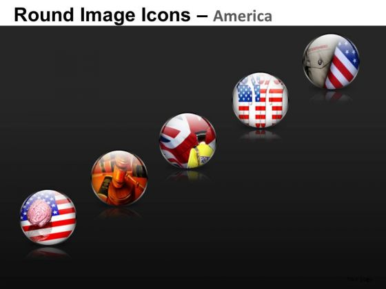 American Icons PowerPoint Slides And America PowerPoint Templates