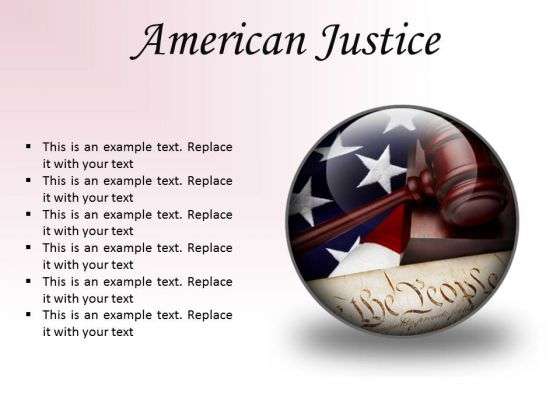 American Justice Law PowerPoint Presentation Slides C
