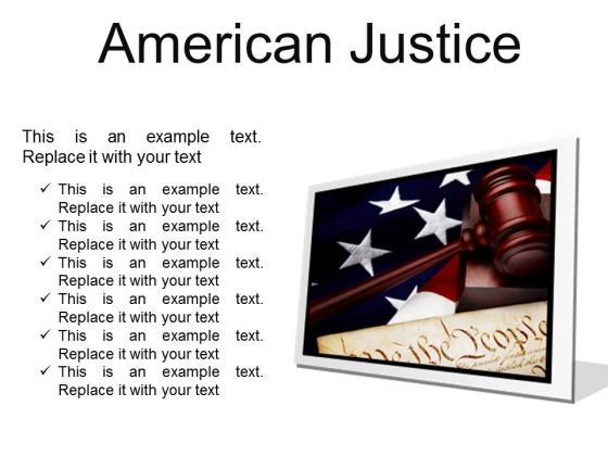 American Justice Law PowerPoint Presentation Slides F