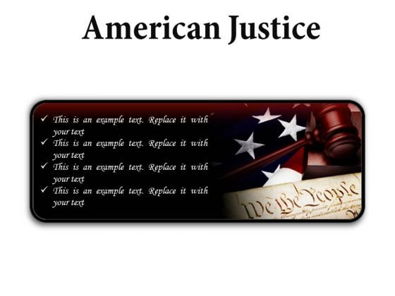 American Justice Law PowerPoint Presentation Slides R