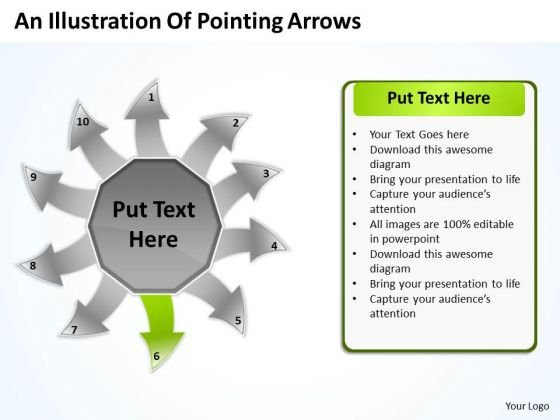 An Illustration Of Pointing Arrows Charts And PowerPoint Template