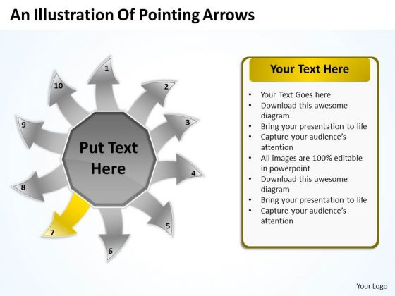An Illustration Of Pointing Arrows Charts And PowerPoint Templates