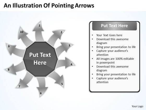An Illustration Of Pointing Arrows Network Software PowerPoint Templates