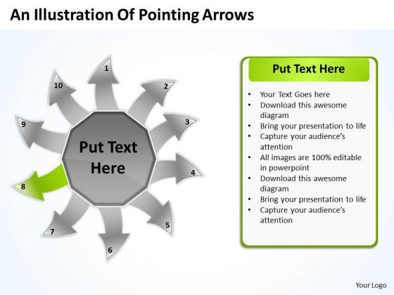 An Illustration Of Pointing Arrows Ppt Charts And PowerPoint Templates