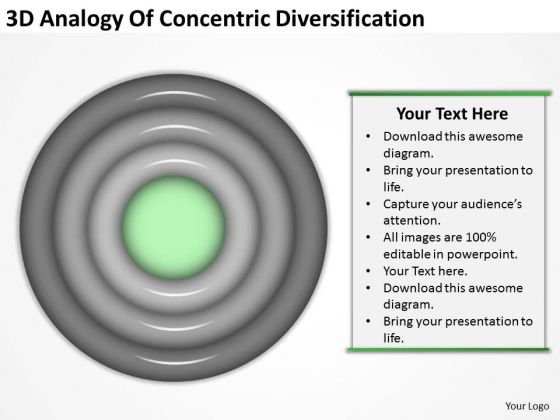 Analogy Of Concentric Diversification Business Plan For PowerPoint Slides