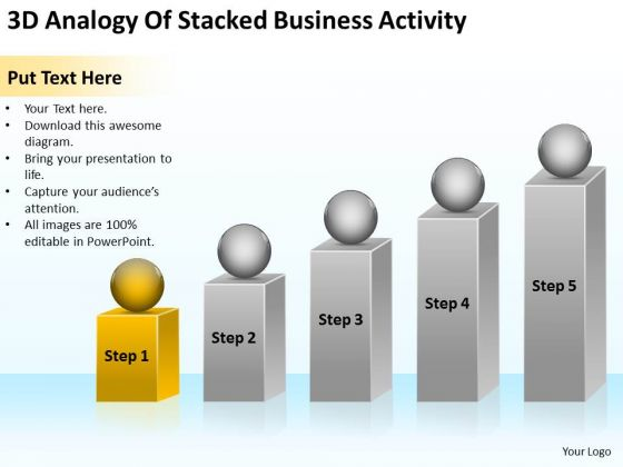 Analogy Of Stacked Business Activity Ppt Marketing Plan For Small PowerPoint Templates