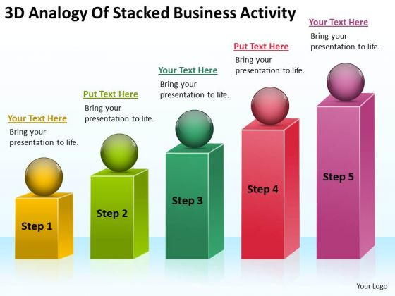 Analogy Of Stacked Business Activity Ppt Sample Proposal Outline PowerPoint Templates