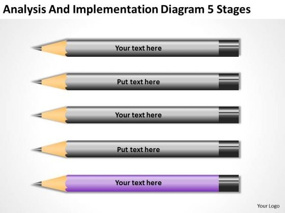 Analysis And Implementation Diagram 5 Stages Plans PowerPoint Slides