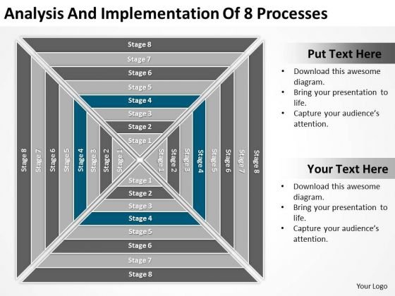 Analysis And Implementation Of 8 Processess Ppt Business Plan PowerPoint Templates