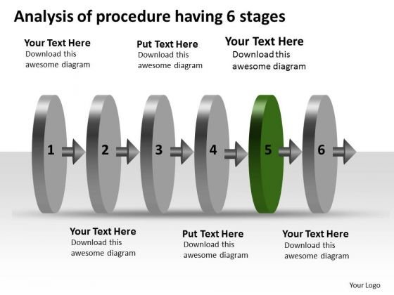 Analysis Of Procedure Having 6 Stages Business Schematic PowerPoint Slides