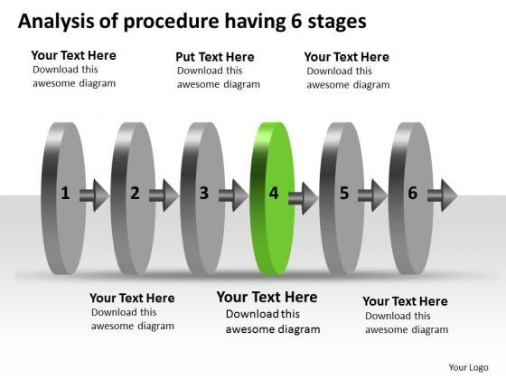 Analysis Of Procedure Having 6 Stages Schematic PowerPoint Slides
