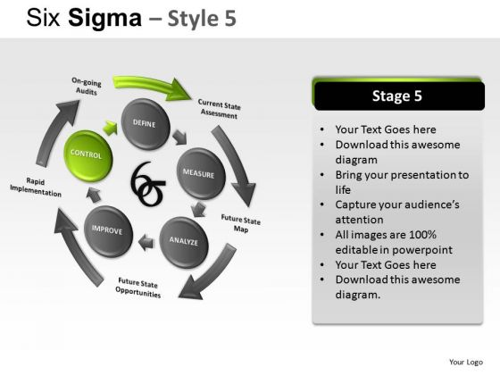 Analysis Six Sigma 5 PowerPoint Slides And Ppt Diagram Templates