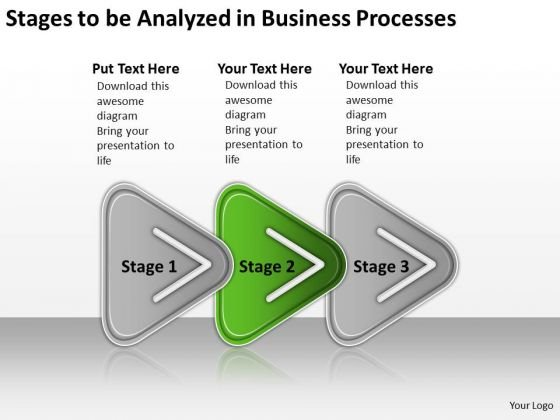 Analyzed In Business PowerPoint Theme Processes Written Plan Templates