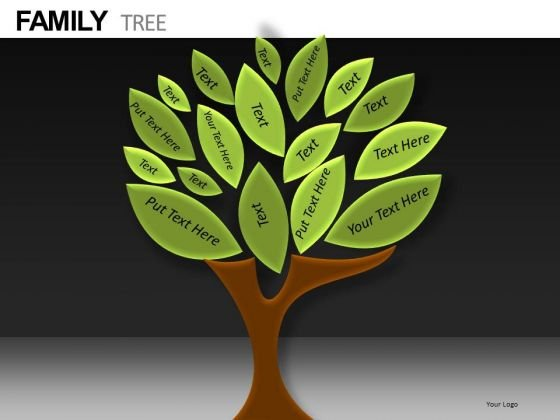 Ancestors Family Tree PowerPoint Templates