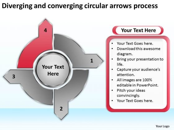 And Converging Circular Arrows Process Flow Motion PowerPoint Templates
