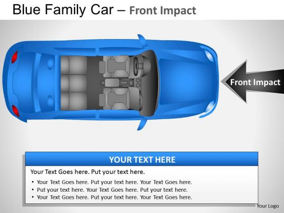 Angle Blue Family Car Top View PowerPoint Slides And Ppt Diagram Templates