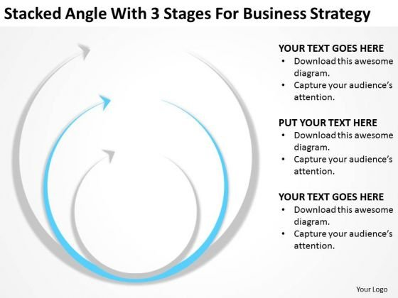 Angle With 3 Stages For Business Srategy Transportation Plan PowerPoint Templates
