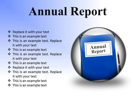 Annual Report Business PowerPoint Presentation Slides C