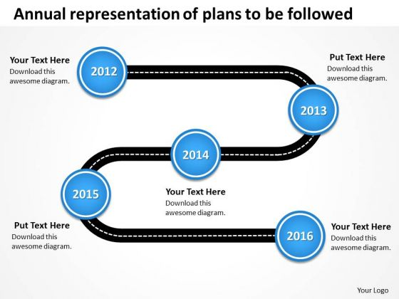 Annual Representation Of Plans To Be Followed PowerPoint Templates Ppt Slides Graphics