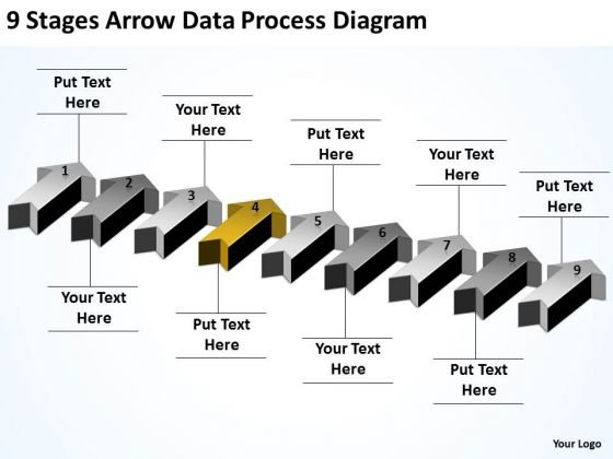 Applications Of Parallel Processing 9 Stages Arrow Data Diagram PowerPoint Templates