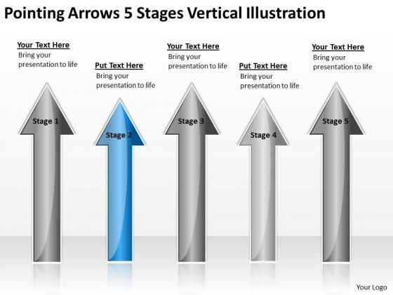Applications Of Parallel Processing Arrows 5 Stages Vertical Illustration PowerPoint Slide