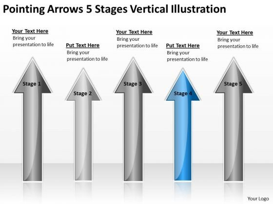 Applications Of Parallel Processing Arrows 5 Stages Vertical Illustration Ppt 4 PowerPoint Slides