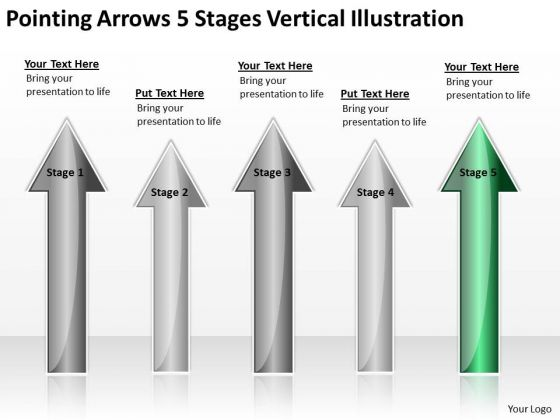 Applications Of Parallel Processing Arrows 5 Stages Vertical Illustration Ppt PowerPoint Slides