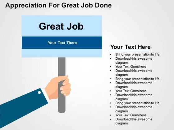 Appreciation For Great Job Done PowerPoint Template