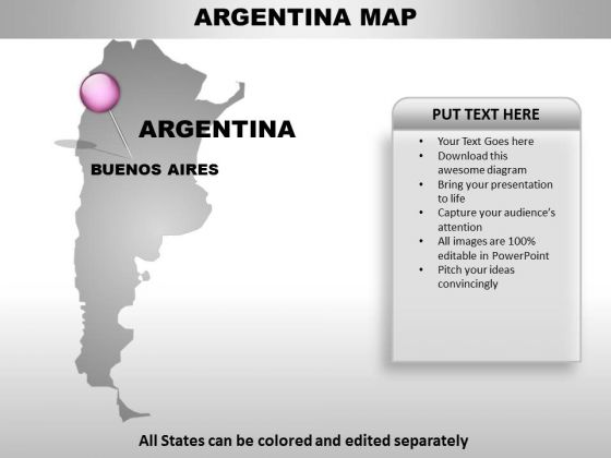Argentina Country PowerPoint Maps