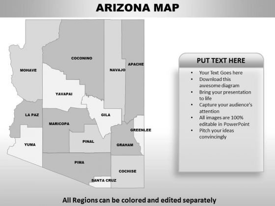 Arizona PowerPoint Maps