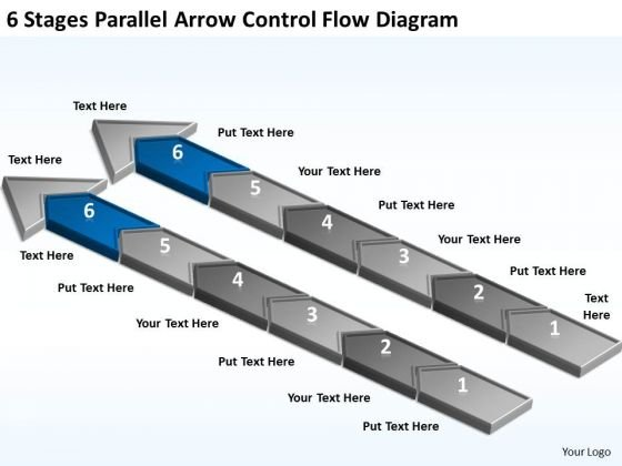 Arrow Control Flow Diagram Ppt Small Business Administration Plan PowerPoint Templates