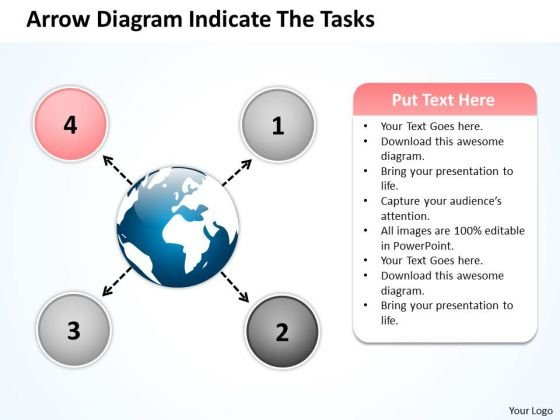 Arrow Diagram Indicate The Tasks Circle Circular Flow Layout Process PowerPoint Slides