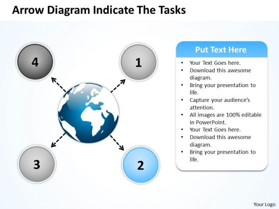 Arrow Diagram Indicate The Tasks Circular Flow Layout Process PowerPoint Slide