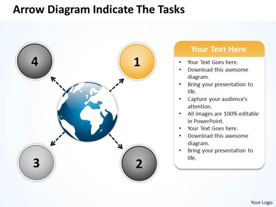 Arrow Diagram Indicate The Tasks Ppt Circular Flow Layout Process PowerPoint Slide