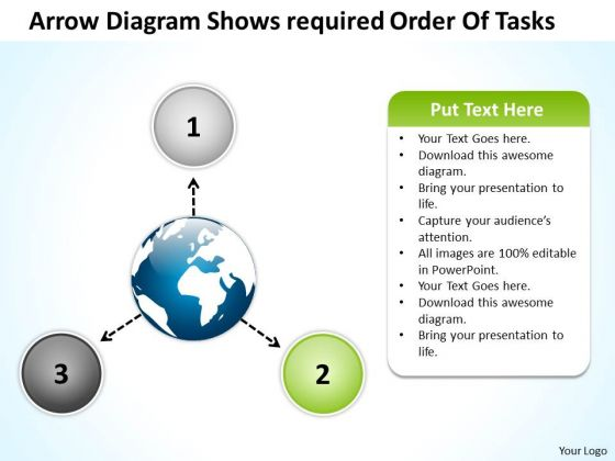 Arrow Diagram Shows Required Order Of Tasks Circle Arrows Process Software PowerPoint Templates