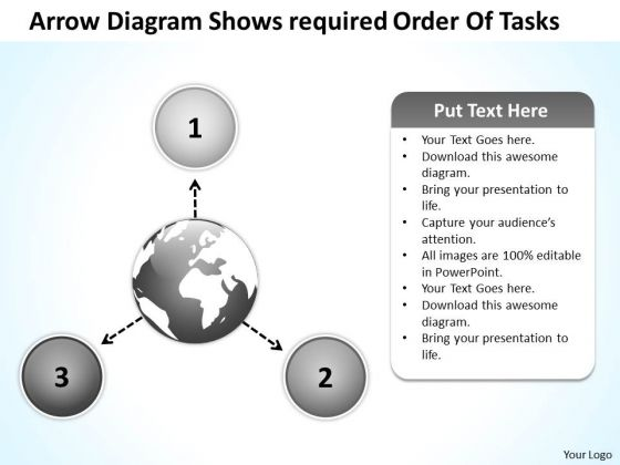 Arrow Diagram Shows Required Order Of Tasks Circular Flow Layout Process PowerPoint Slides