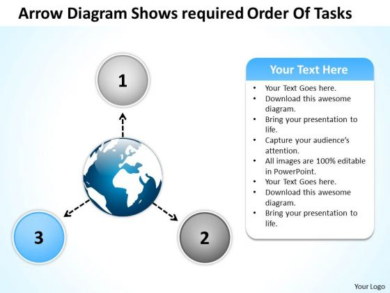 Arrow Diagram Shows Required Order Of Tasks Ppt 4 Arrows Process Software PowerPoint Templates