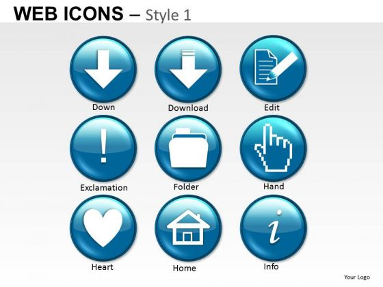 Arrow Download Web Icons PowerPoint Slides And Ppt Diagram Templates