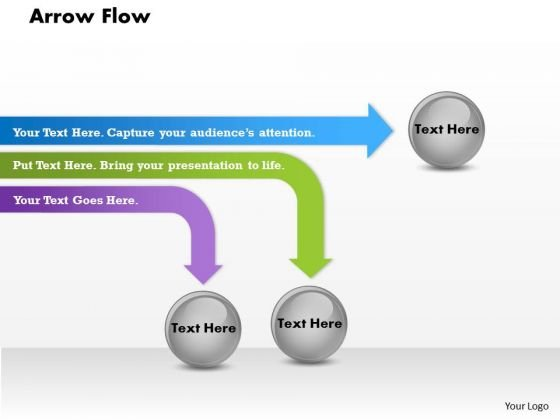Arrow Flow PowerPoint Presentation Template