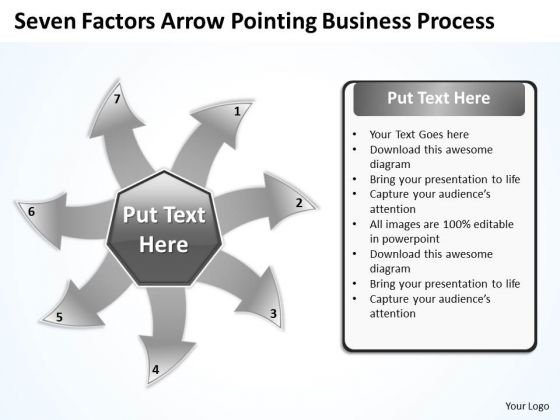 Arrow Pointing World Business PowerPoint Templates Process Radial Diagram Slides