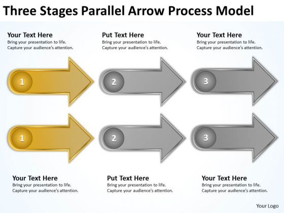 Arrow Process Model How To Start Business Plan Writing PowerPoint Templates