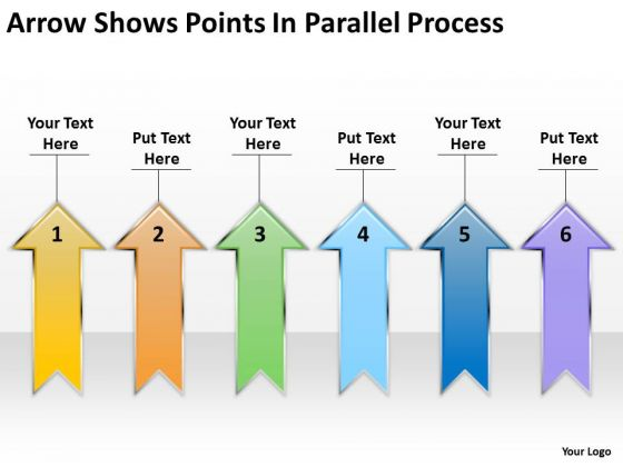 Arrow Shows Points Parallel Process My Business Plan PowerPoint Slides