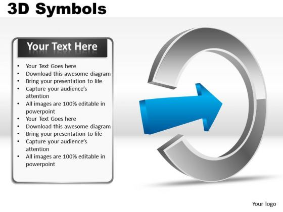 Arrows 3d Symbols PowerPoint Slides And Ppt Diagram Templates