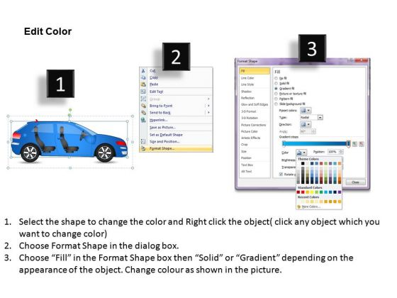 arrows_4_door_blue_car_side_view_powerpoint_slides_and_ppt_diagram_templates_3