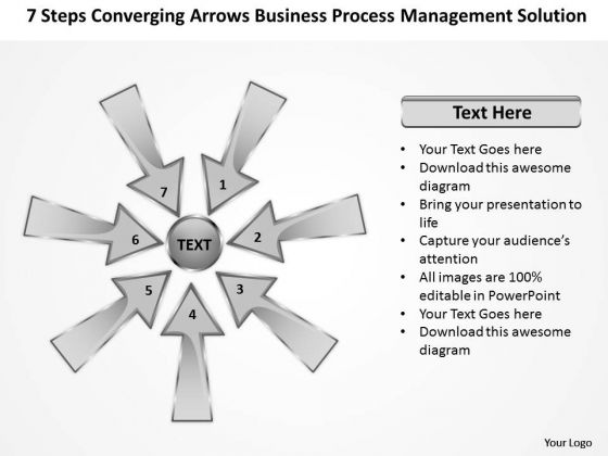 Arrows Business Process Management Solution Ppt 1 Cycle PowerPoint Slides