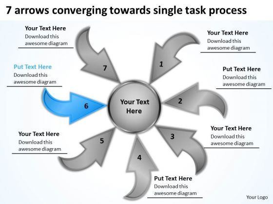 Arrows Converging Towards Single Task Process Ppt Relative Cycle Diagram PowerPoint Slides