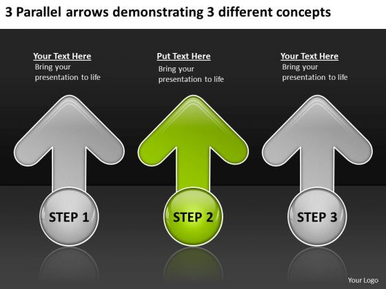 Arrows Demonstrating Different Concepts Basic Business Plan Template PowerPoint Slides