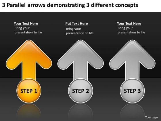 Arrows Demonstrating Different Concepts Business Planning Software PowerPoint Slides