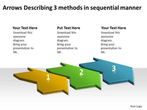 Arrows Describing 3 Methods Sequential Manner Electrical Circuit Design PowerPoint Templates