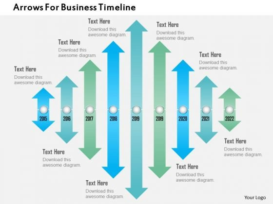 Arrows For Business Timeline PowerPoint Template